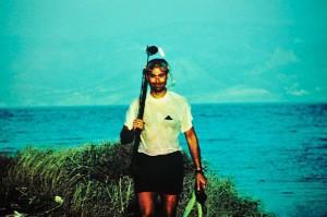 A venti anni, dopo aver battuto il record di immersione e pesca subacquea conemporaneamente