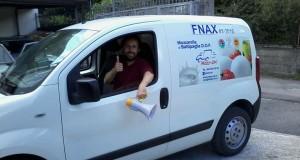 Antonio sul furgone
