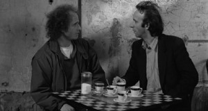Roberto Benigni in Coffee and-Cigarettes, 2003, di Steven-Wright-