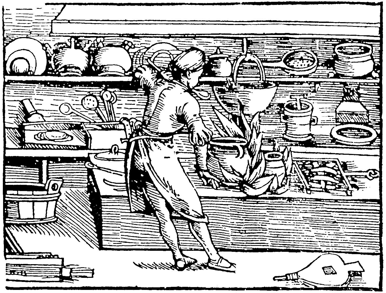 stampa medievale cucina