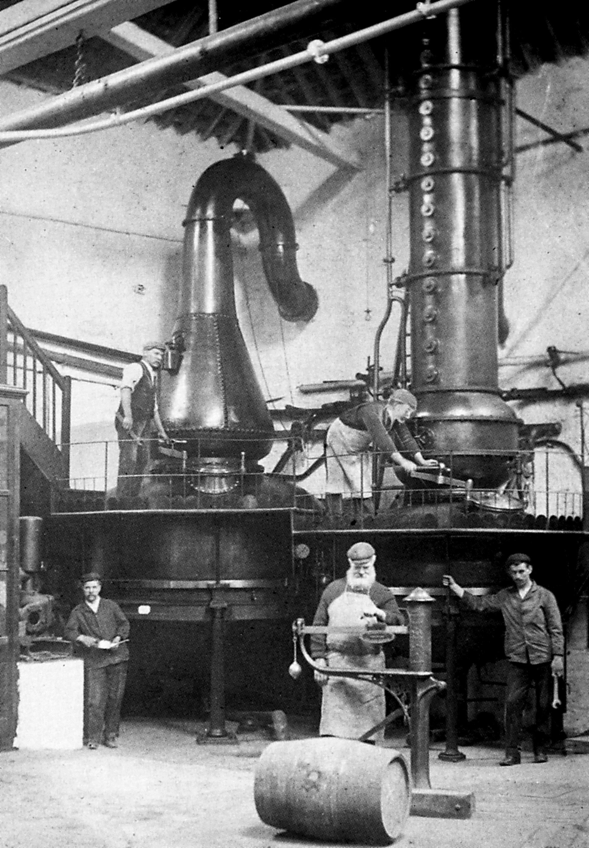 Foto d'epoca della distilleria Black Friars, Plymouth