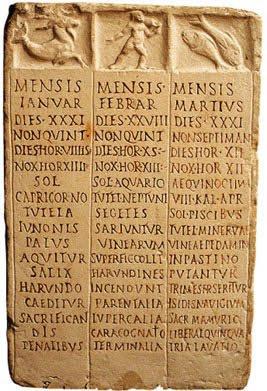 Il Calendario Romano.Antico Calendario Romano Gastrolabio